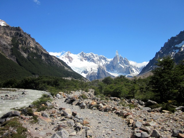 Hiking towards Laguna Torre
