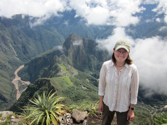 Another epic travel moment - climbing to the top of Machu Picchu mountain for an incredible view