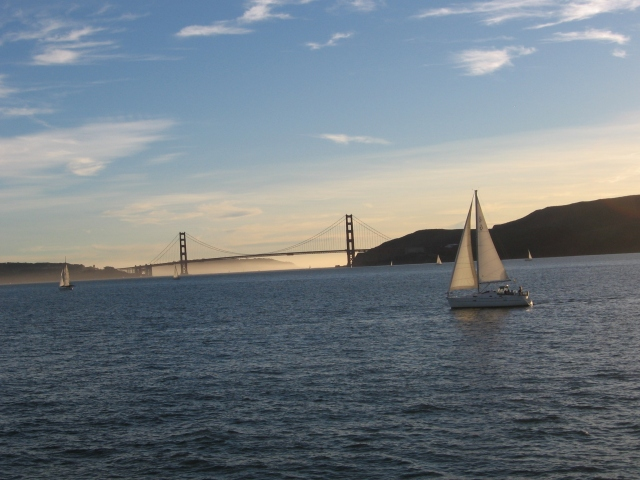 This is home. (San Francisco Bay with the Golden Gate bridge)