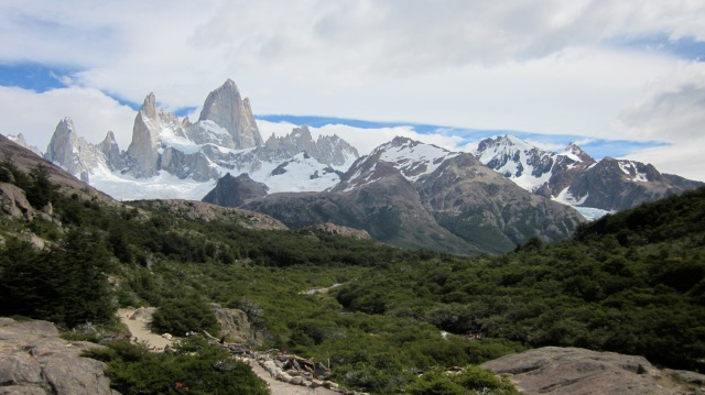 Hiking towards Laguna de los Tres in the Fitz Roy range