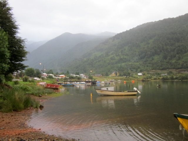 Puyuhapi - a small village on the Caraterra Austral in Chile